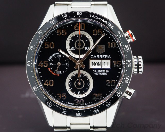 TAG Heuer CV2A10 Carrera Day Date Chronograph SS / SS