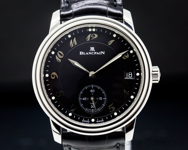 Blancpain 1161-1130-55 Ultra Thin Automatic 100HR Black Arabic Dial