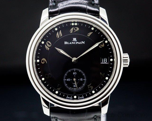 Blancpain Ultra Thin Automatic 100HR Black Arabic Dial