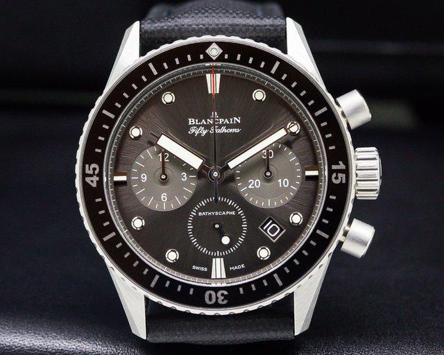 Blancpain 5200-1110-B52A Fifty Fathoms Bathyscaphe Flyback Chronograph SS