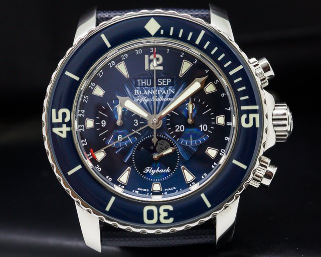 Blancpain Fifty Fathoms Complete Calendar Flyback SS / Blue Dial
