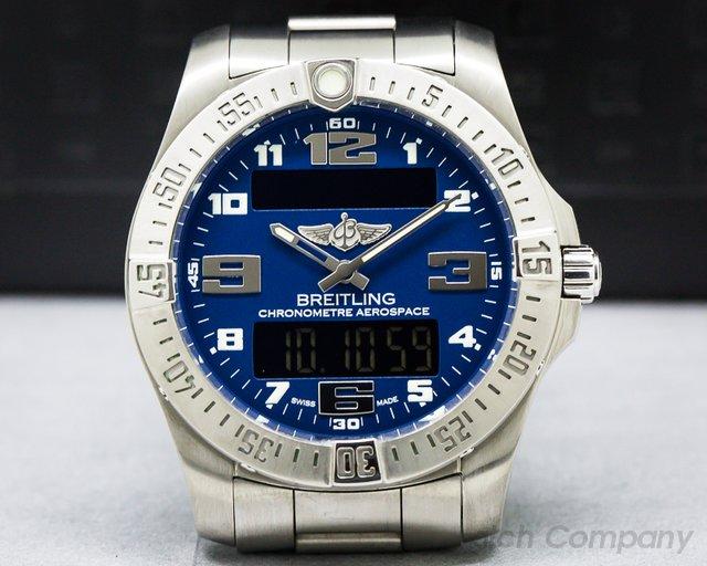 Breitling E79363 Aerospace EVO Titanium / Blue Dial