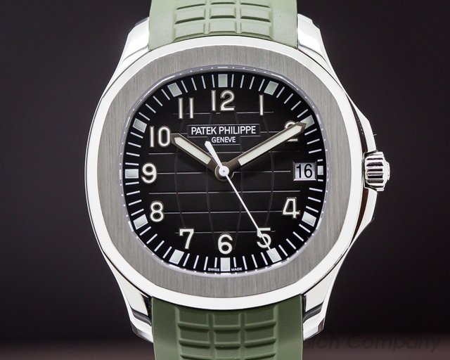 Patek Philippe Aquanaut SS / GREEN Rubber strap