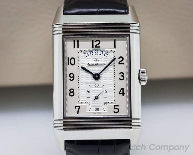 Jaeger LeCoultre Grande Reverso 986 DuoDate Silver Dial SS