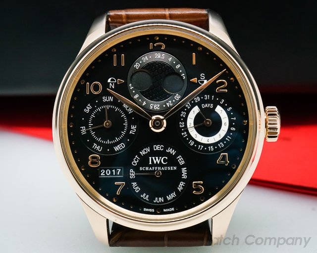 IWC Portuguese Perpetual Calendar Double Moon 18K Rose Gold
