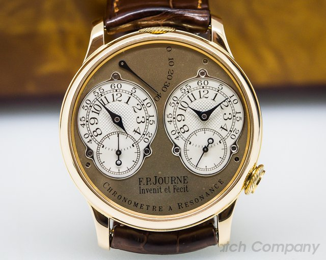 F. P. Journe Chronometre Resonance BRASS MOVEMENT Rose Gold 38mm
