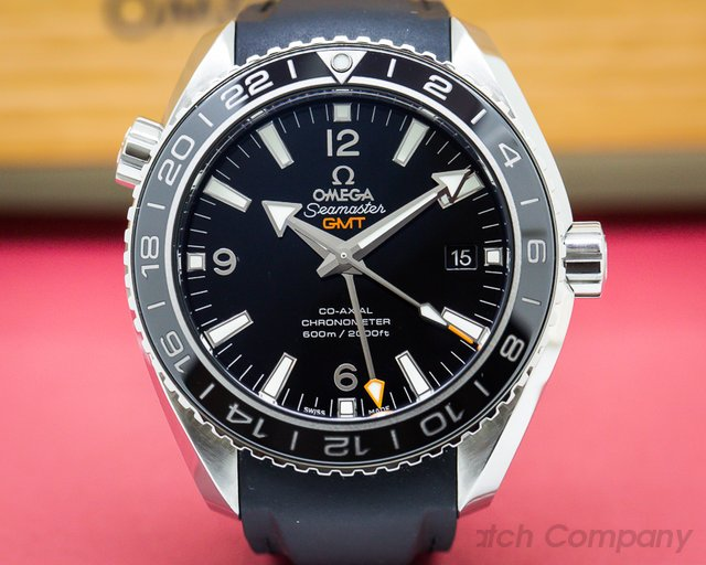 Omega 232.32.44.22.01.001 Seamaster Planet Ocean GMT SS / Rubber 42MM