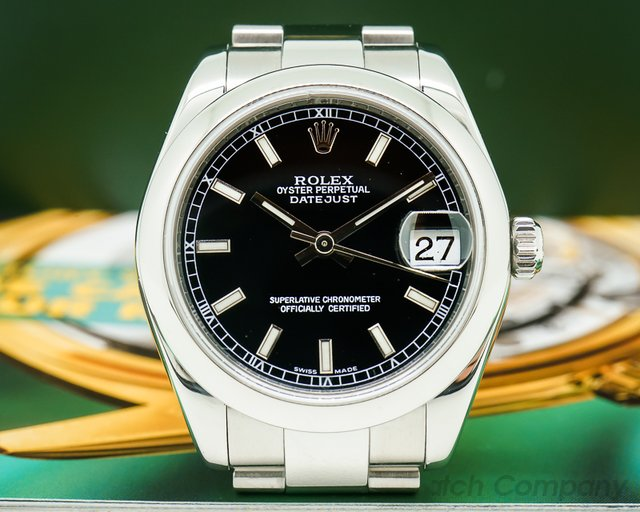 Rolex Datejust Lady 31 Black Stick Dial