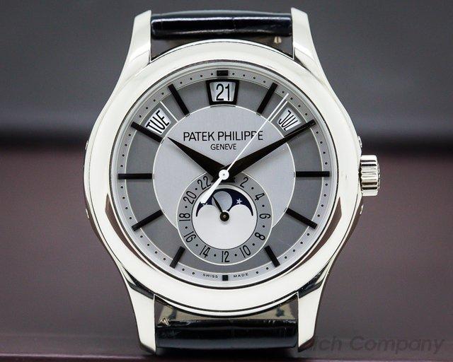 Patek Philippe 5205G-001 Annual Calendar Rhodium Dial 18K White Gold
