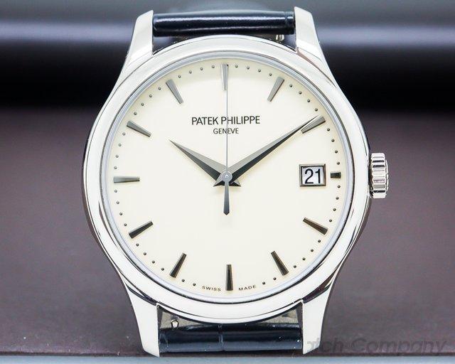 Patek Philippe Calatrava Automatic Ivory Dial 18K White Gold