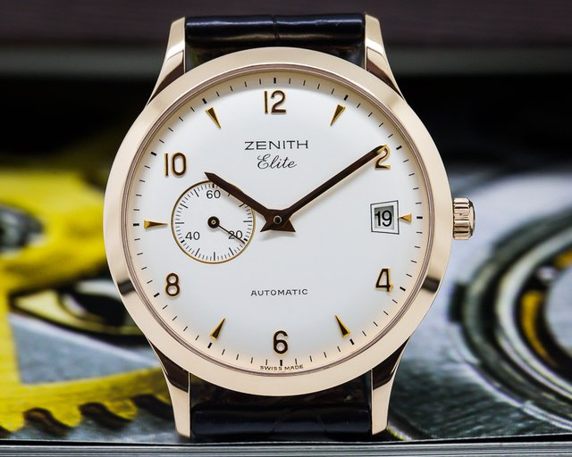 Zenith Class Elite Automatic 18K Rose Gold 37MM