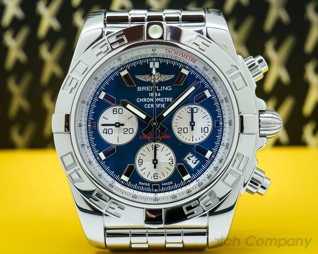 Breitling AB011012 Chronomat 44 B01 Blue Dial SS