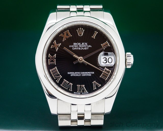 Rolex Datejust Lady 31 Black Sunburst Jubilee