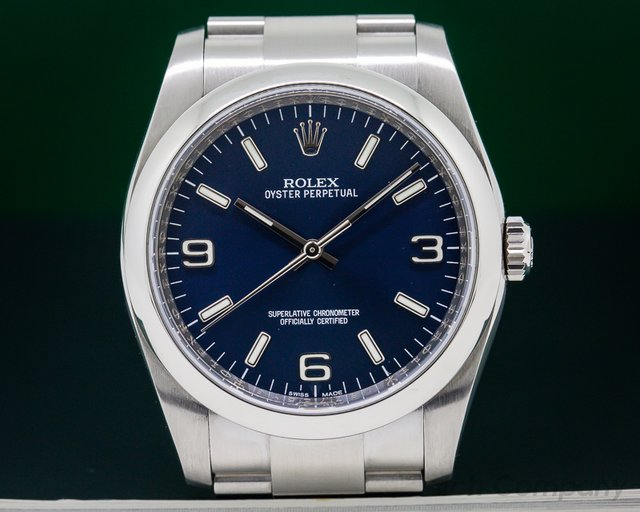 Rolex 116000 Oyster Perpetual SS Blue Dial