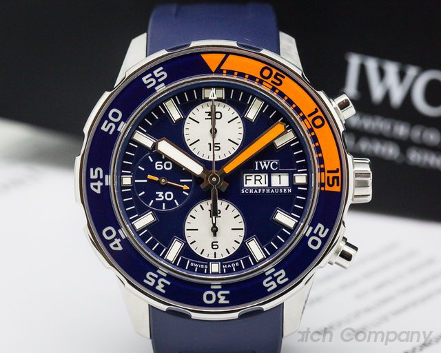 IWC IW376704 Aquatimer Chronograph Automatic / Blue Rubber