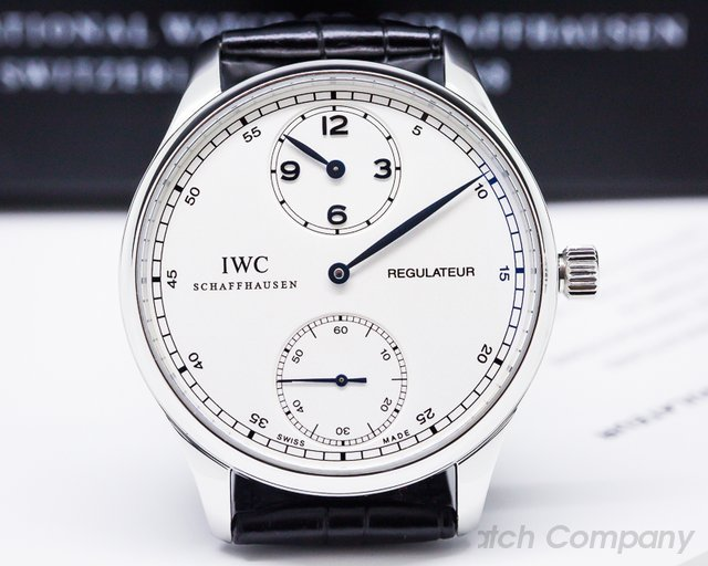 IWC 5444 Portuguese Regulator Vintage Collection SS