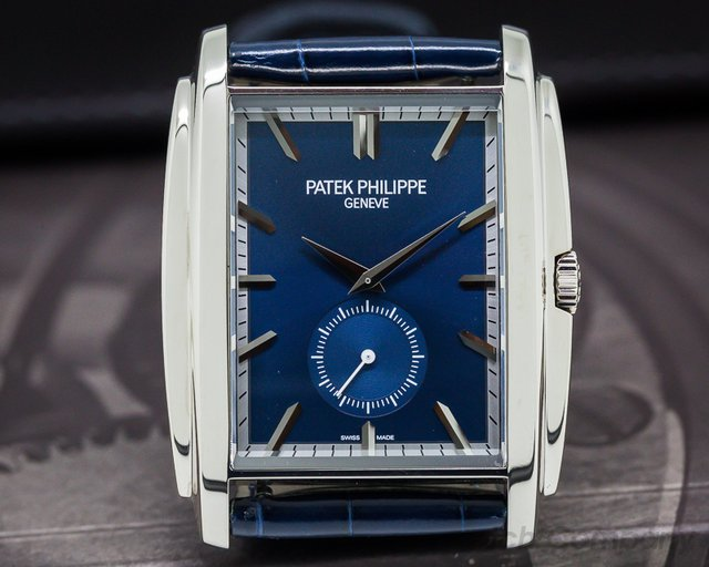 Patek Philippe Gondolo 18K White Gold Blue Dial Manual Wind