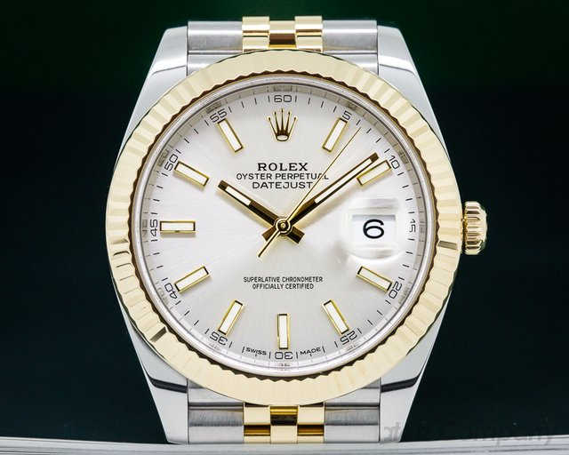 Rolex 126333 Datejust 41 White Stick Dial 18K / SS