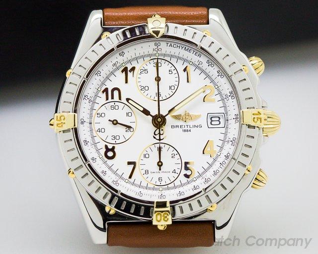 Breitling Chronomat White Dial SS / 18K