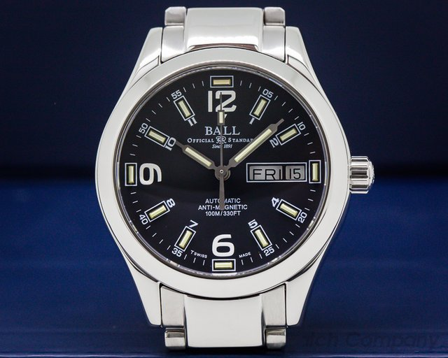 Ball NM1016C Engineer II Classic SS Black Dial