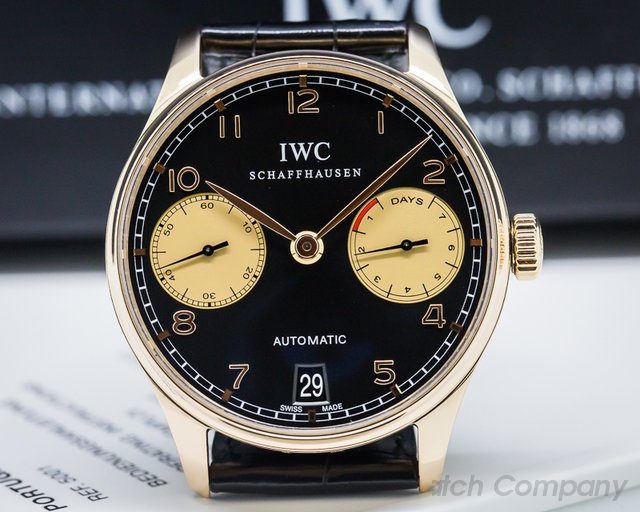 IWC IW500113 Portuguese 7 Day Automatic 18K Red Gold