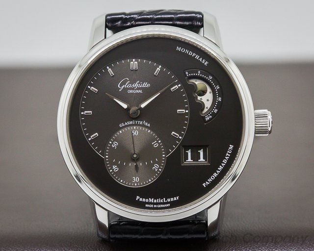 Glashutte Original PanoMatic Lunar SS Grey Dial