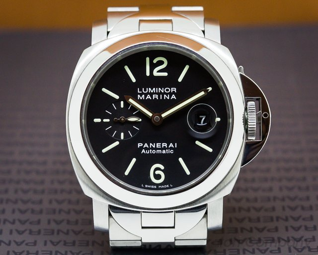 Panerai Luminor Automatic SS Black Dial