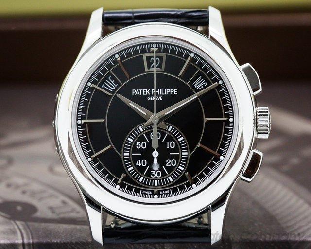 Patek Philippe 5905P-010 Chronograph Annual Calendar Platinum / Black Dial UNWORN