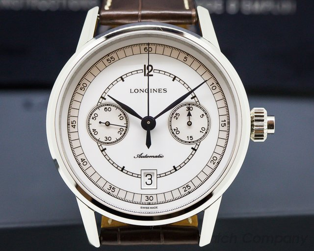 "Longines L28004234 Heritage Chronograph ""Single Button Chronograph"""