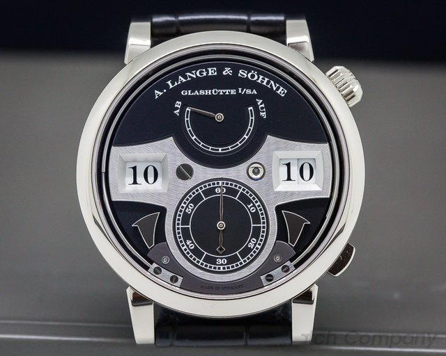 A. Lange and Sohne 245.029 Zeitwerk Striking Time 18K White Gold