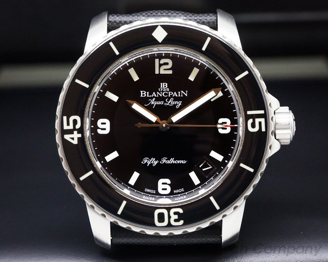 "Blancpain Fifty Fathoms ""Tribute to Aqualung"" SS / Rubber"