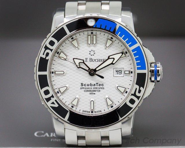 Carl. F Bucherer Patravi Scuba Tech SS / SS Bracelet Certified Chronome