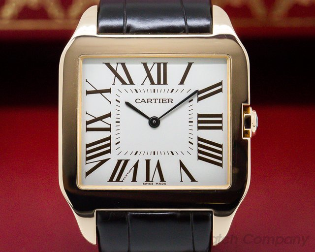 Cartier Santos Dumont Rose Gold Manual Wind