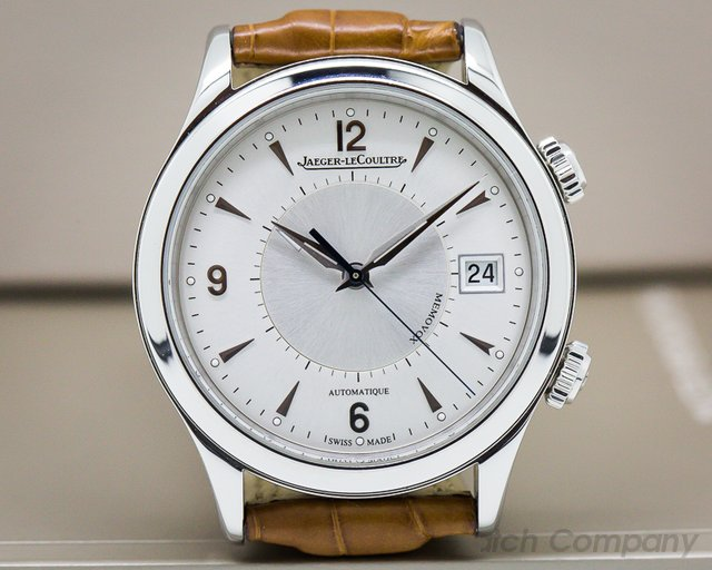 Jaeger LeCoultre Master Memovox SS Silver Dial