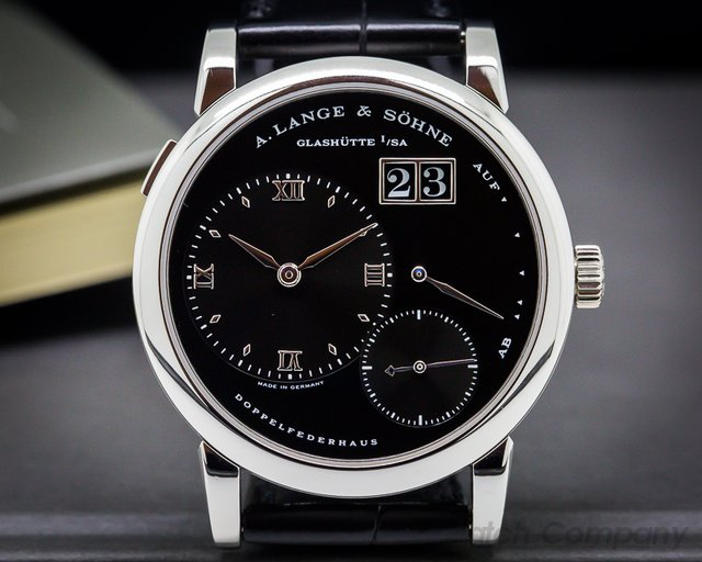"A. Lange and Sohne Lange 1 Platinum Black Dial ""DARTH"""