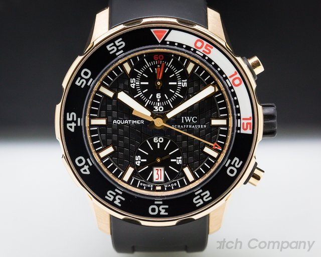 IWC IW 18K Rose Gold Aquatimer Flyback Chronograph Rubber