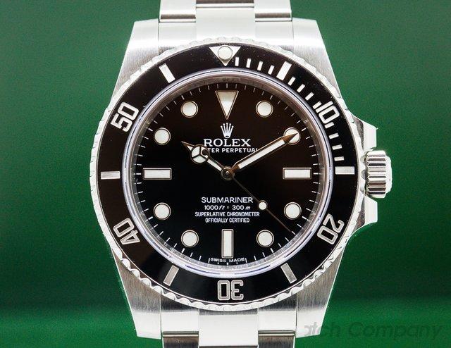 Rolex Submariner No Date Ceramic Bezel SS