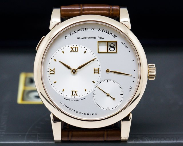 A. Lange and Sohne Lange 1 18K Rose Gold Silver Dial