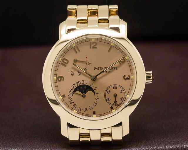 Patek Philippe Moon Phase Power Reserve Pink Dial RARE INTEGRATED BRACELET