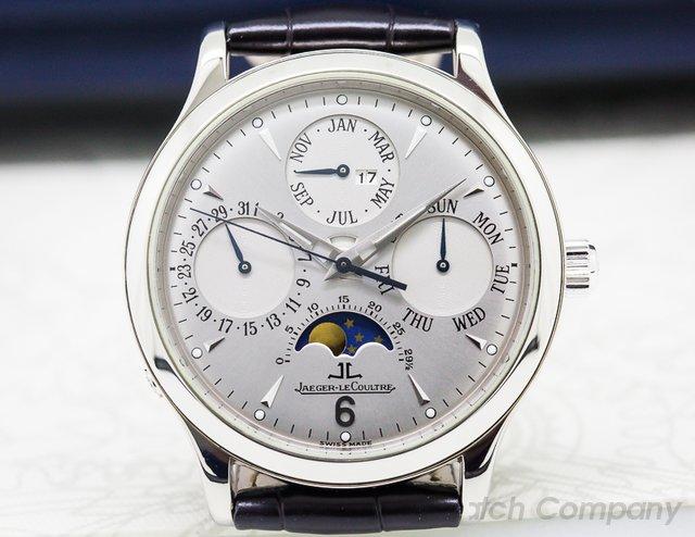 Jaeger LeCoultre Master Perpetual Calendar Silver Dial 18K white Gold