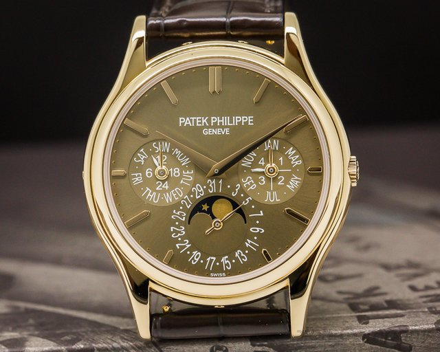 Patek Philippe Perpetual Calendar Brown Dial 18K Rose Gold