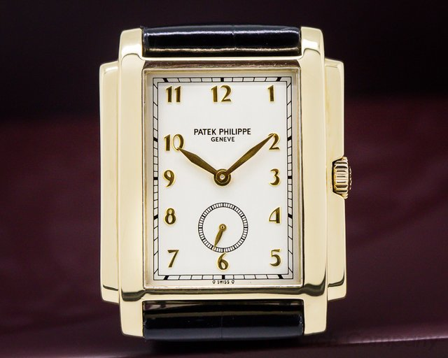 Patek Philippe Gondolo Silver Dial Arabic Numerals 18K Yellow Gold