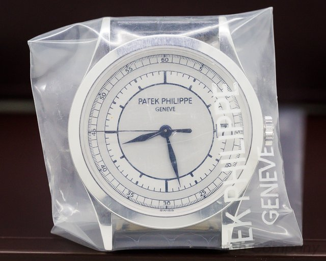 Patek Philippe Calatrava 18K White Gold Sector Dial SEALED