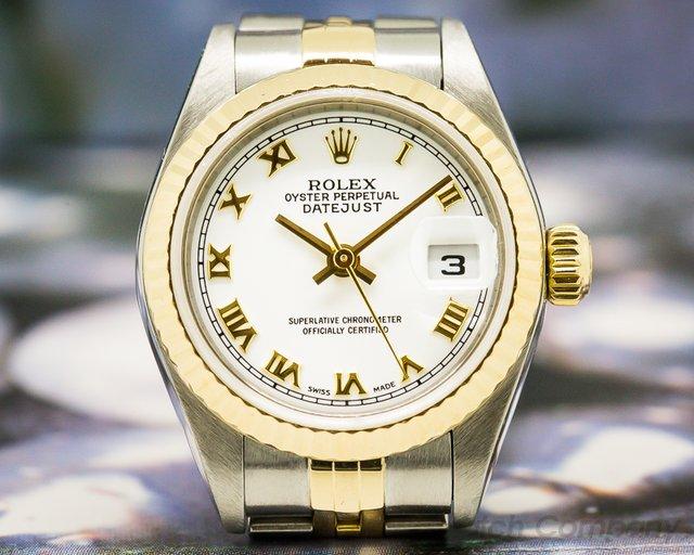 Rolex Lady Datejust White Roman Dial 18K / SS