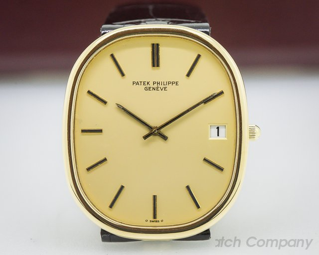 Patek Philippe Golden Ellipse 18K Yellow Gold Champagne Dial