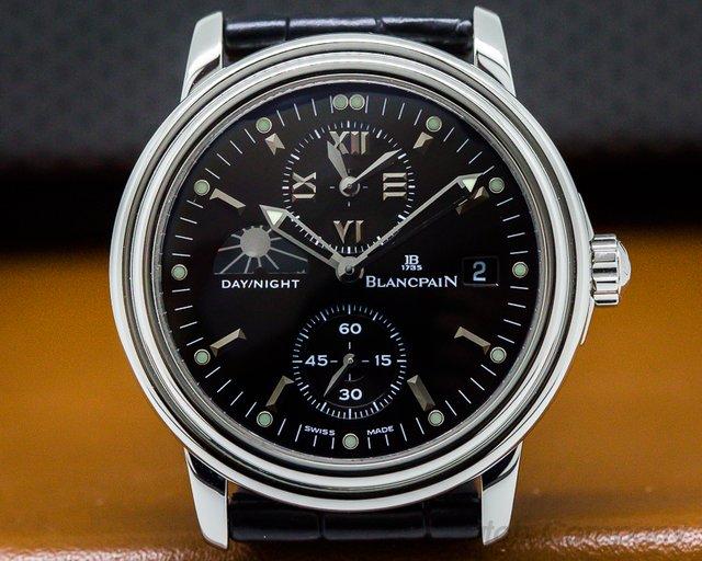 Blancpain Leman Timezone Dual Time SS Black Dial