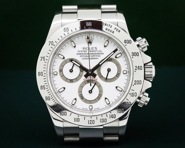 Rolex Daytona White Dial SS