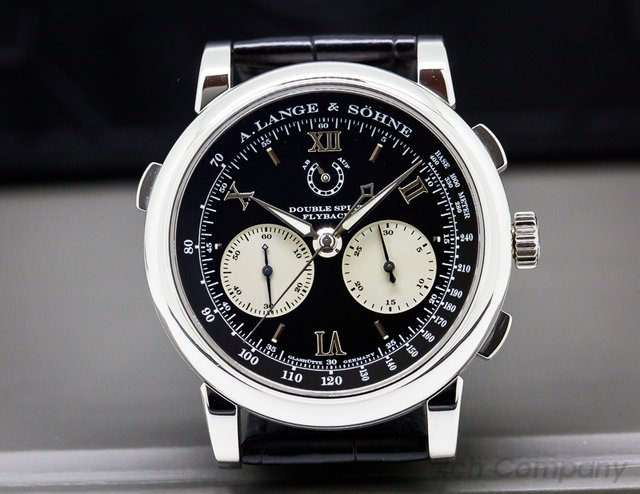 A. Lange and Sohne Datograph Double Split Black Dial Platinum / Deloyment