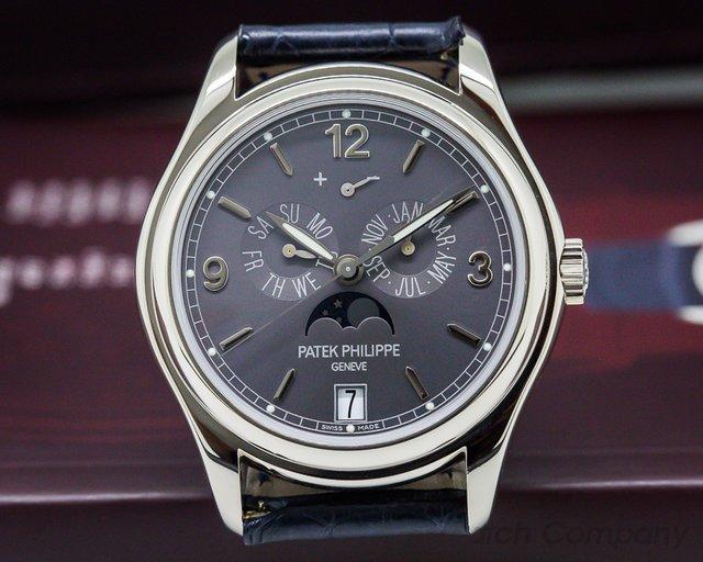Patek Philippe Annual Calendar 18K White Gold Slate Dial