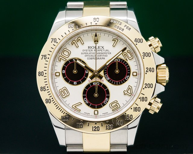 "Rolex Daytona White ""PANDA"" Dial 18K Yellow Gold / SS"